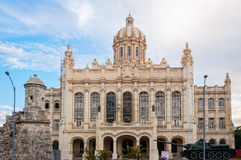 Facade of the Museum of Revolution in Old Havana, Cuba. Havana, Cuba - March 6, 2016: Museum of Revolution or former presidential palace is one of the stock image
