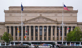 The facade of the National Archives Building. Washington DC, USA - April 29 2014: The facade of the National Archives Building in Washington D.C stock photography