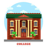 Facade of national college corpus for education Royalty Free Stock Photo