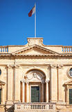 A facade of the National Library of Malta, Valletta Royalty Free Stock Photo