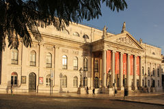 Facade of The National Teather. Lisbon. Portugal Stock Image