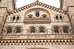 Facade of Natural History Museum in London Royalty Free Stock Images