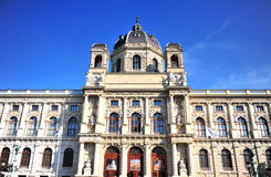 Facade of Natural History Museum in, Vienna Stock Image