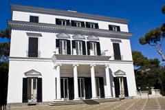 Facade of a neoclassical villa Royalty Free Stock Images