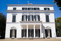 Facade of a neoclassical villa Stock Photos