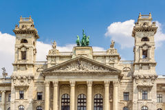 The facade of the Neprajzi Museum on Kossuth square in Budapest, Hungary. Royalty Free Stock Photo