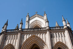 Facade of the new cathedral (Vitoria) Stock Photo