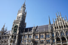 Facade of New City Hall in Munich Royalty Free Stock Photo