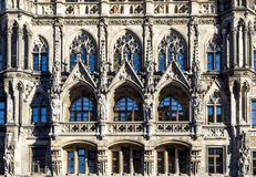 Facade of new munich town Royalty Free Stock Photo