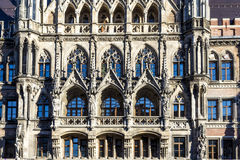 Facade of new munich town Royalty Free Stock Photos