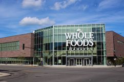 Facade of New Whole Foods Store in Chicago, United States