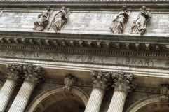 Facade of the New York Public Library. Midtown, Manhattan, New York City, New York State, USA Stock Images