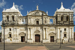 Facade of Nicaraguan cathedral Royalty Free Stock Photography