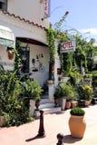 Facade of a nice little hotel in Saintes-Maries-de-la-Mer Stock Photo