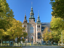 Facade of the Nordic Museum Building in Stockholm, Sweden Royalty Free Stock Photos