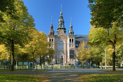 Facade of the Nordic Museum Building in Stockholm, Sweden Stock Photos