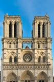 Facade of Notre Dame Stock Image