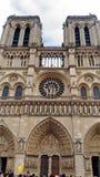 Facade of the Notre Dame Cathedral stock photos