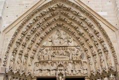 Facade of Notre-Dame Cathedral, Paris Stock Photo