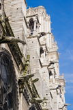 Facade of Notre-Dame Cathedral, Paris Royalty Free Stock Photo