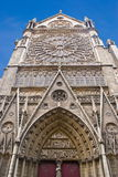 Facade of Notre-Dame Cathedral Royalty Free Stock Images