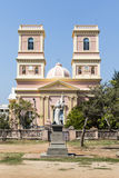 Facade of the Notre Dame de Agnes church in Pondicherry in Tamil Nadu, South India Stock Photos