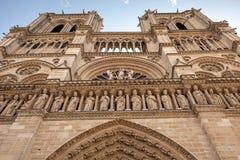 Facade of Notre Dame de Paris, France Stock Photography
