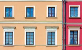 Facade Of A Building With Windows Royalty Free Stock Photo