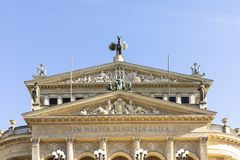 Free Facade Of Old Opera House In Frankfurt Stock Image - 128323171