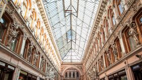 Free Facade Of Passage, A Historical Building With Baroque Statues, Sculptures And Ornaments In The Old Town Of Odessa Stock Photo - 182112930