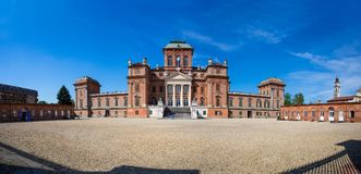 Facade Of Racconigi Royal Palace - Former Royal Residence Of Savoy House In Piedmont, Cuneo Province, Italy Stock Image