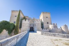 Facade Of The Castle In Ampudia Royalty Free Stock Image