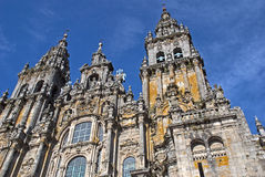 Facade Of The Cathedral Santiago De Compostela Royalty Free Stock Images