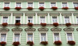 Facade Of The Green Building Royalty Free Stock Image