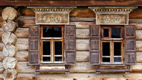 Free Facade Of The Old Log House In The Museum Of Wooden Architecture Royalty Free Stock Images - 49626819