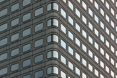 Facade of office buiding. Regular pattern of windows, Hong Kong Royalty Free Stock Images