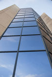 Facade of office building with blue sky Royalty Free Stock Images