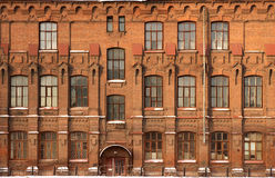 Facade of the old building. Facade of the old brick building Royalty Free Stock Photography
