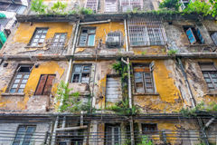Facade of an old building. Facade of an old, abandoned building royalty free stock image