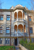 Facade of the old building. Evpatoria. Ukraine Royalty Free Stock Photo