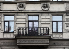 Facade of old building in the historical city Royalty Free Stock Photo