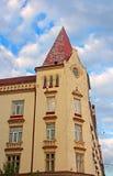 Facade of old building, Lviv, Ukraine Royalty Free Stock Image