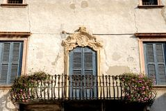 Facade of old building in Verona Stock Photography
