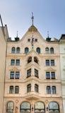 Facade of old building in Vienna. Austria Stock Photo
