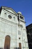 Facade of an old church Stock Photo
