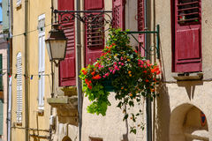 Facade in old city Stock Images