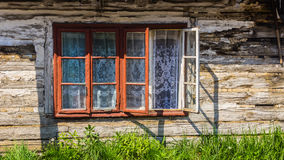 Facade of an old cottage Royalty Free Stock Photos