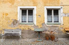 Facade of an old dilapidated house. In Bavaria, Germany Stock Images
