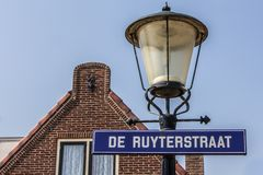 Facade of an old Dutch street Stock Photography