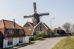 Facade of an old Dutch village Royalty Free Stock Photos